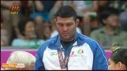 کشتی: مراسم اهدای مدال طلا به رضا یزدانی