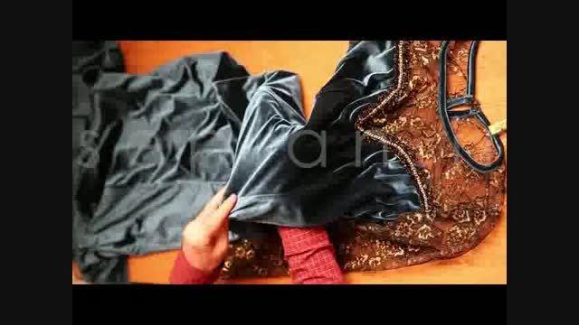 خرید اینترنتی لباس مجلسی ماکسی سبز مخمل