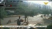 لحظه انفجار در نزدیکی سفارت ایران در لبنان