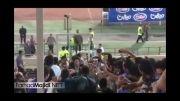 فرهاد مجیدی در جایگاه ویژه استادیوم آزادی