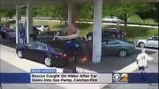 اتش گرفتن خودرو در پمپ بنزین