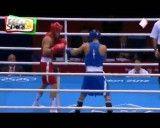 مسابقه بوکس احسان روزبهانی در برابر حریف قزاق