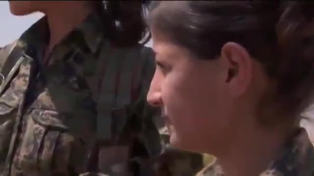 دختر کردی که کشته شدن را به افتادن بدست داعش ترجیح میده