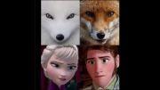 روباه سفید ... روباه قهوه ای ... شباهت خوشمل ! ♥