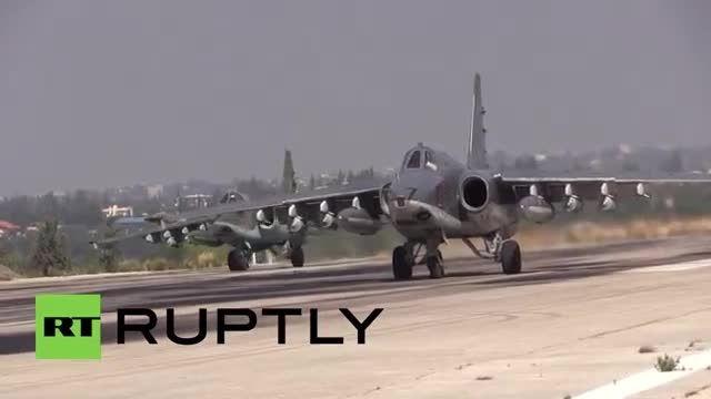 جت سوخو روسیه همچنان پرواز برای عملیات نظامی در سوریه