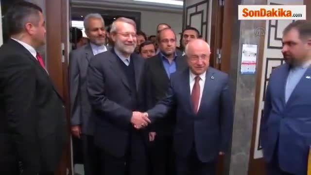 دیدار علی لاریجانی با جمیل چیچک رئیس مجلس ترکیه