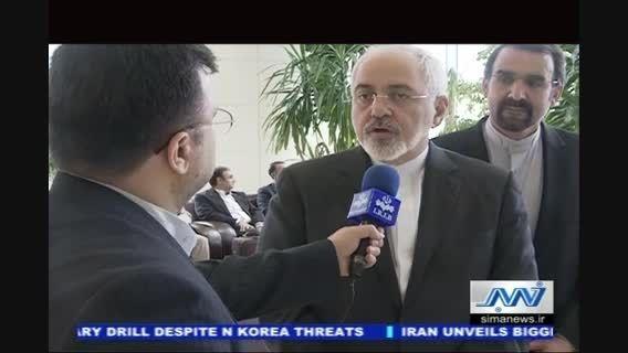 نشست دکتر ظریف و لاورف در خصوص گسترش روابط دو کشور
