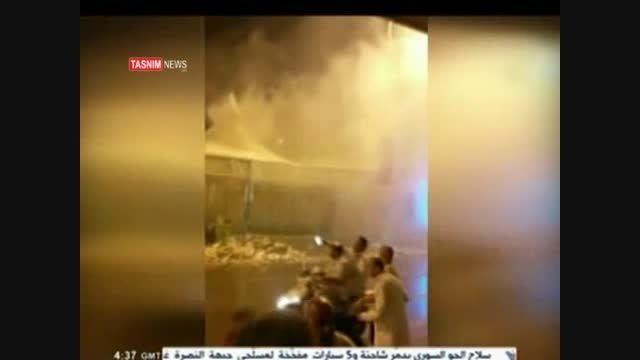 آتش سوزی در چادرهای منا