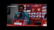 مصاحبه سعید معروف و کواچ پس از برد مقابل آمریکا