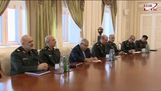 وزیر دفاع ایران با رئیس جمهور آذربایجان دیدار کرد