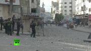 درگیری جوانان فلسطینی با نظامیان صهیونیست در کرانه باختری