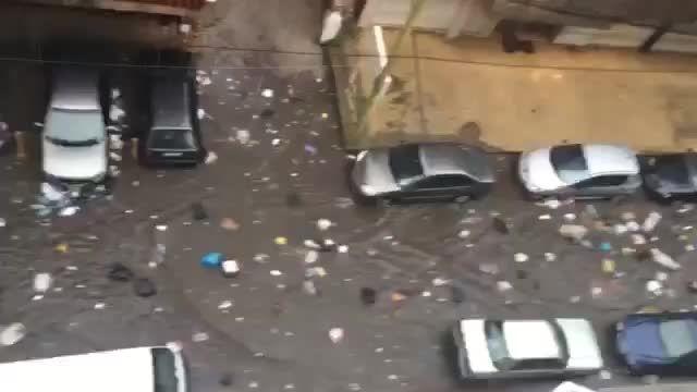 وضعیت زباله های خیابانی در بیروت است که به اینجا رسیدند