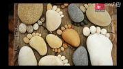 خلق اشکال زیبا با سنگ