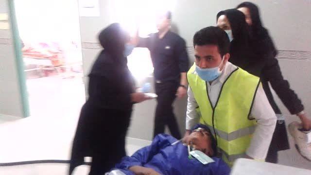 مانور آتش سوزی و تخلیه بیمارستان شهید مطهری مرودشت