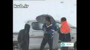 نجات زن زائو در برف - کهگیلویه و بویراحمد