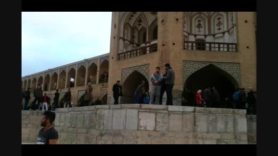 اینجا اصفهان- زاینده رود و پل خاجو