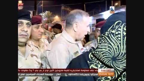 زیارت و بازدید از نقاط آزاد شده توسط وزیر دفاع عراق