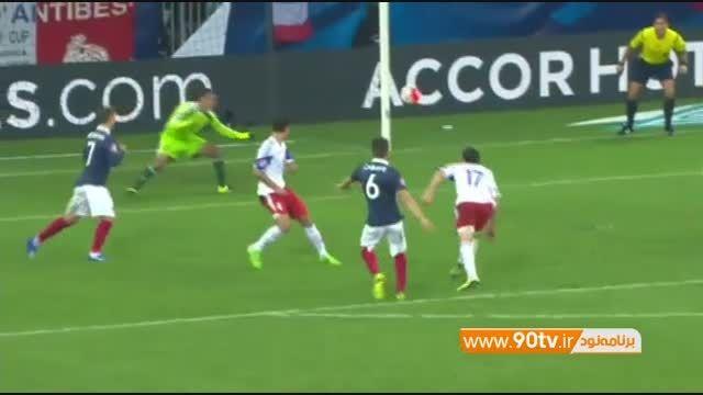 گلهای بازی: فرانسه ۴-۰ ارمنستان