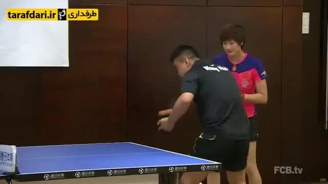 مسابقه پینگ پنگ قهرمانان فوتبال و قهرمانان پینگ پنگ