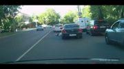 زیر گرفتن راننده شاکی در خیابانهای مسکو
