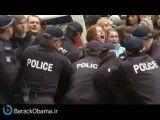خشونت پلیس در اشغال ملبورن، استرالیا