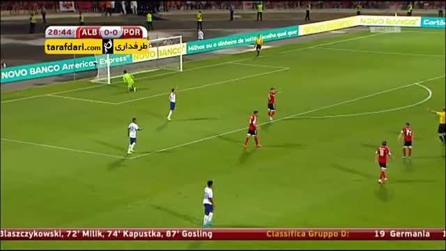 خلاصه بازی آلبانی 0-1 پرتغال