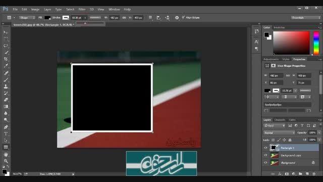 تصویر رنگی  در زمینه تصویر سیاه سفید
