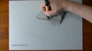 نقاشی سه بعدی حیرت آور روی کاغذ