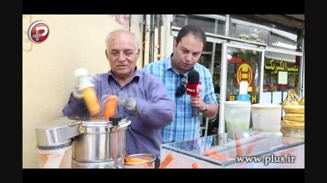 این مرد با دست های آهنی اش کنار خیابان آبمیوه می فروشد!
