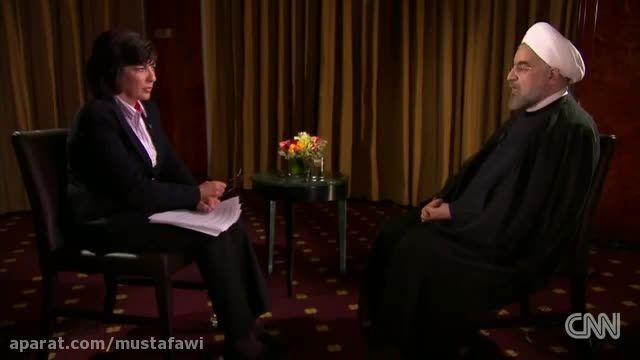 مصاحبه ی رئیس جمهور ایران با کریستین امانپور