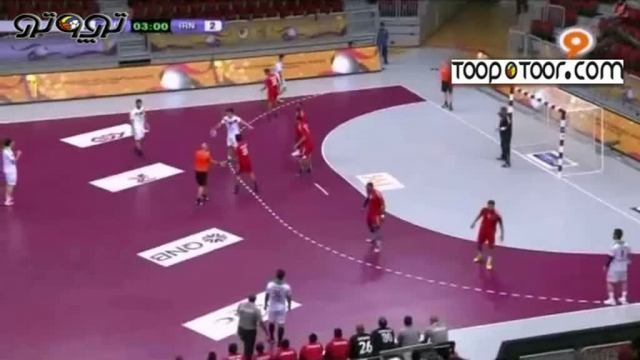 مسابقات هندبال انتخابی المپیک برد ایران برابر عمان