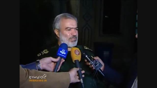 ورود پیکر پاک سردار شهید حاج حسین همدانی به تهران