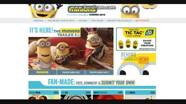 وبسایت های مخصوص انیمیشن ها-وبسایت مخصوص انیمیشنminions