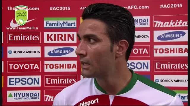 مصاحبه با نکونام و آندو در پایان بازی با امارات