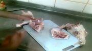 نحوه جدا کردن کامل گوشت از استخوان مرغ در عرض کمترین زمان