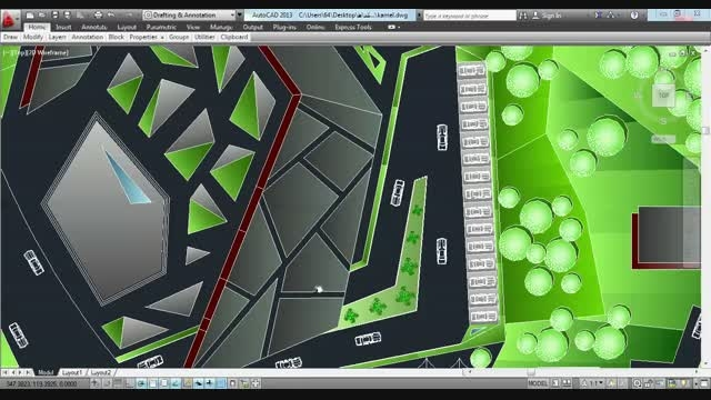 طرح معماری ۳.....موزه یا فرهنگسرا....کلیپ نقشه  اتوکد