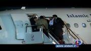 لحظه بازگشت ظریف به کشور و استقبال پرشور مردم