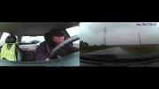 خونسردی هنگام داغون کردن ماشین