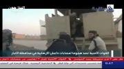 انهدام نفربر زرهی داعش در اطراف انبار+اجساد بعد از حمله