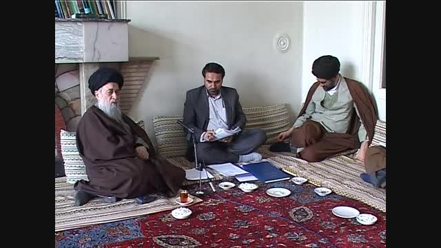 دیدار رئیس پژوهشکده فلسفه   با آیت سید رضی شیرازی ( ق3)
