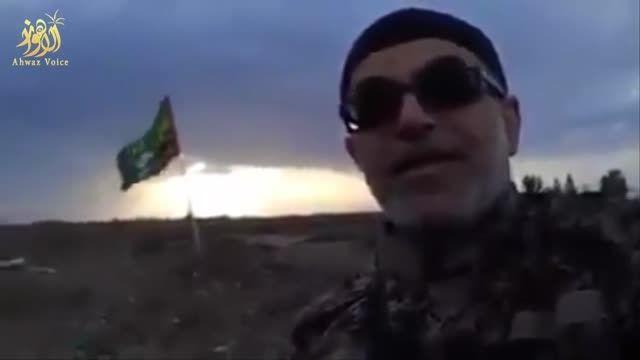حضور مداح نزار قطری در جبهه جنگ با نیروهای بسیج عراقی