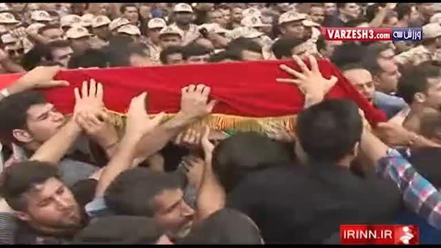 مراسم خاکسپاری هادی نوروزی در بابل
