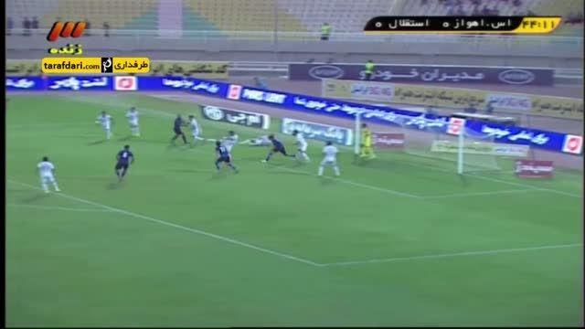 خلاصه بازی استقلال اهواز 1 - 2 استقلال تهران