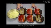 آموزش کیک رنگین کمانی