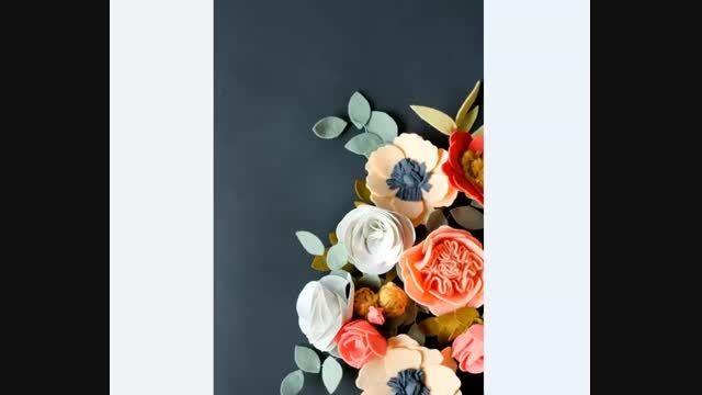 گل های نمدی زیبا