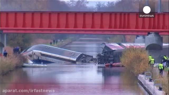 مرگ یازده نفر بر اثر خروج قطار از ریل در فرانسه