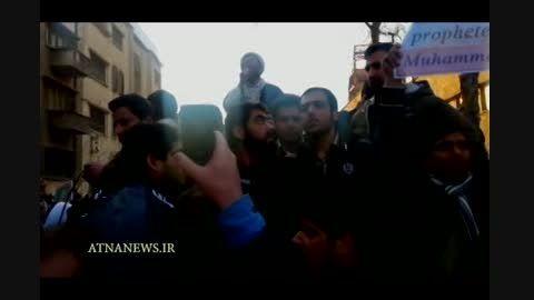 سخنرانی احمد پناهیان مقابل سفارت فرانسه