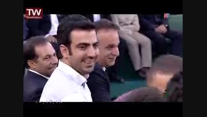 سلفی گرفتن رامبد جناب خان و عادل فردوسی پور