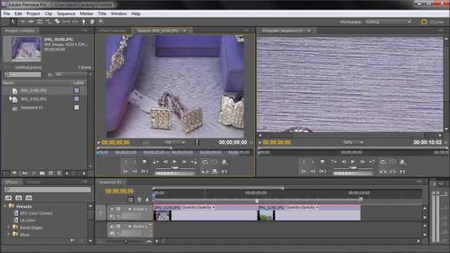متحرک سازی اشیاء مثل تصاویر و متن در Adobe Premiere