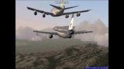 سقوط  2 هواپیما  ایرانی  شبیه سازی
